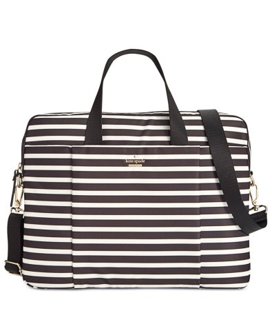 Gifts for Mom Under $200 - Kate Spade Striped Nylon 15-Inch Laptop Bag