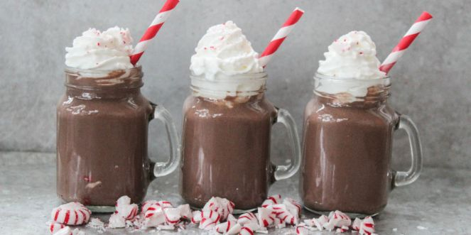 Christmas Cocktails - Peppermint Hot Chocolate