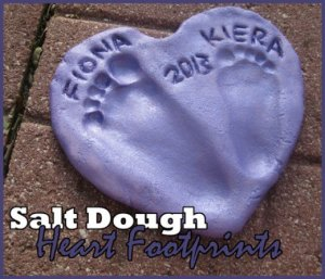 14 Valentine's Day Crafts For Toddlers - Salt Dough Heart Footprints