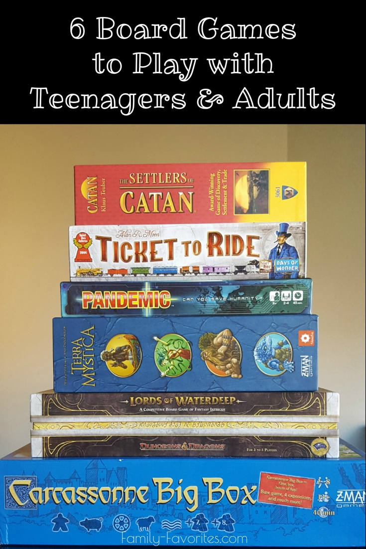 6 Board Games To Play With Teenagers and Adults