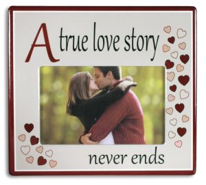 50 Valentine's Day Gifts For Her Under $50 - A True Love Story Never Ends Picture Frame
