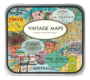 50 Valentine's Day Gifts For Him Under $50 - Vintage Maps Stickers