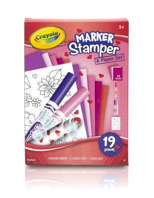 10 Under $10 - Valentine's Day Gifts For Kids - Crayola Valentine's Marker Stamper & Paper Set