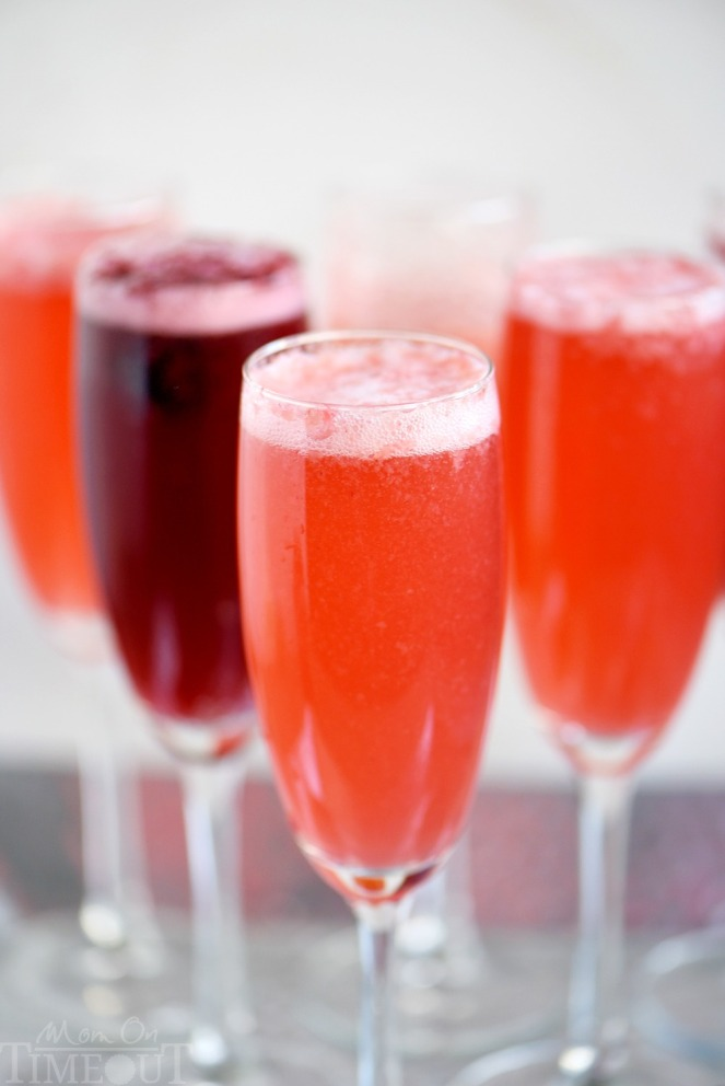 Valentine's Day Dinner Menus - Girls Night - Berry Champagne Punch Cocktail