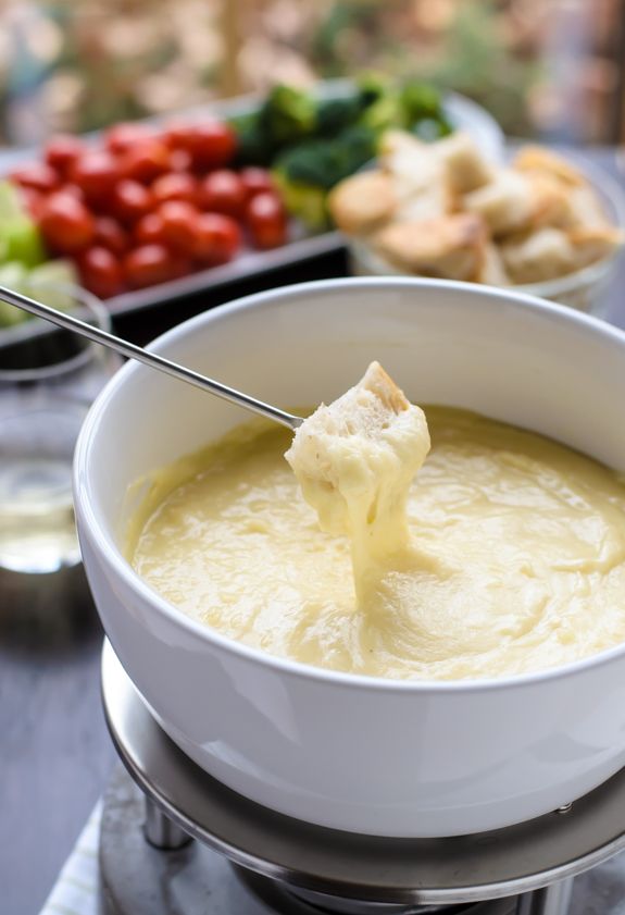 Valentine's Day Date Menu - Dinner For Two - Classic Cheese Fondue Appetizer