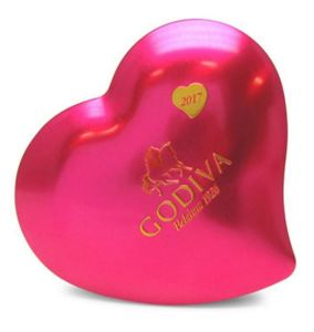 50 Valentine's Day Gifts For Her Under $50 - GODIVA 12-Piece Valentines Day Heart Tin
