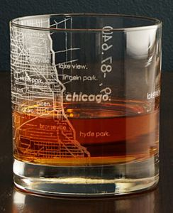 50 Valentine's Day Gifts For Him Under $50 - City Map Glass
