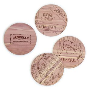 50 Valentine's Day Gifts For Him Under $50 - Neighborwoods Map Coasters