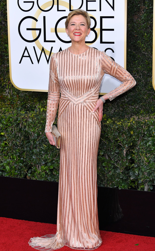 Best Dressed Moms at the 2017 Golden Globes - Annette Benning