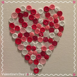 14 Valentine's Day Crafts For Toddlers - Canvas Heart Button Craft