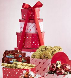 50 Valentine's Day Gifts For Her Under $50 - Hearts Afire Valentine Heart Chocolates Tower