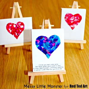 14 Valentine's Day Crafts For Toddlers - Fingerprint Heart Keepsake