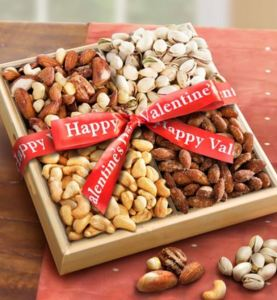 50 Valentine's Day Gifts For Him Under $50 - Nuts Over You! Valentine Nut Assortment Basket