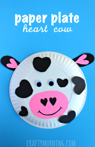 14 Valentine's Day Crafts For Toddlers - Paper Plate Heart Cow