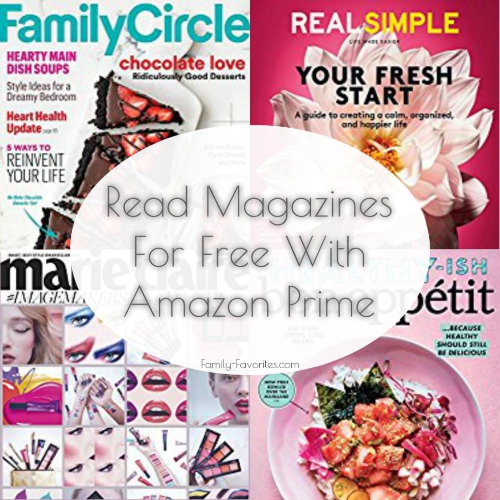 Read Magazine For Free With Amazon Prime
