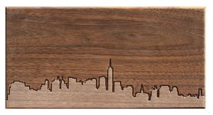 50 Valentine's Day Gifts For Him Under $50 - City Skyline Wooden Routing