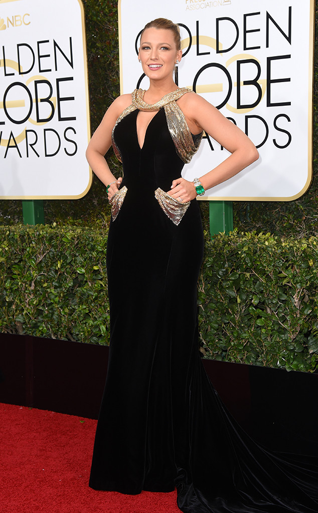 Best Dressed Moms at the 2017 Golden Globes - Blake Lively