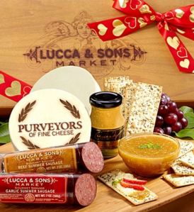 50 Valentine's Day Gifts For Him Under $50 - Valentine Sausage & Cheese Gift