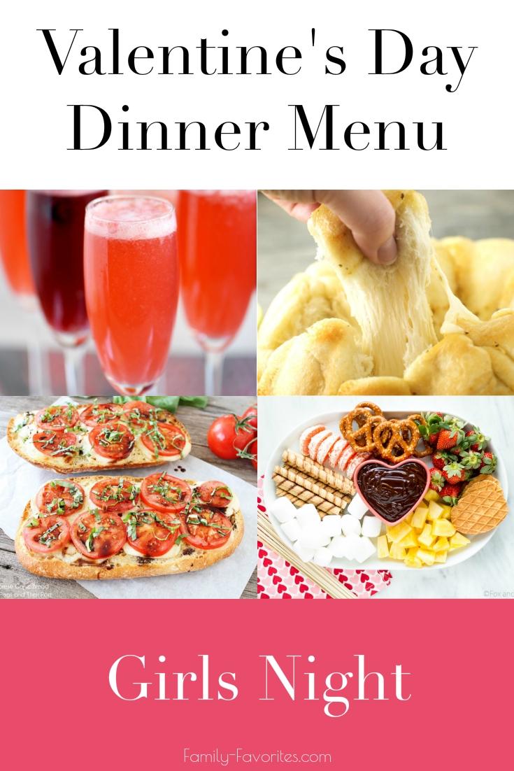 Valetine's Day Dinner Menus - Girls Night