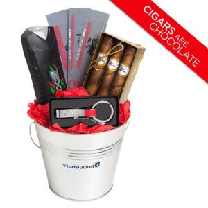 50 Valentine's Day Gifts For Him Under $50 - Stud Bucket Gift Basket