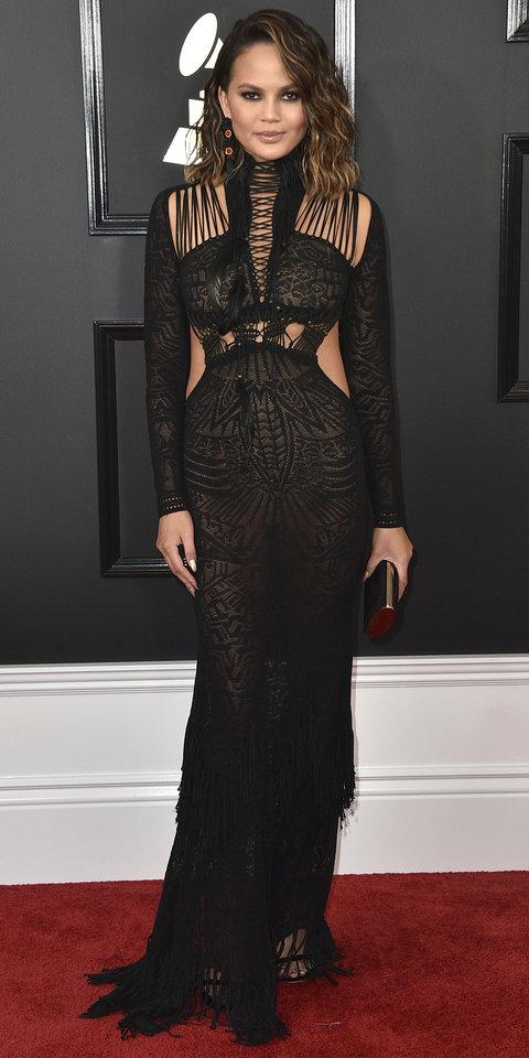 Top 5 Best Dressed Moms at the Grammys - Chrissy Teigen