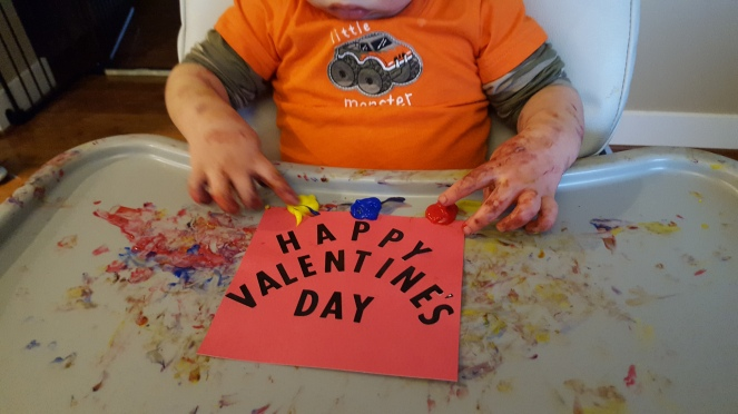 Toddler Craft - Valentine's Day Hand Print Card - Crafting2