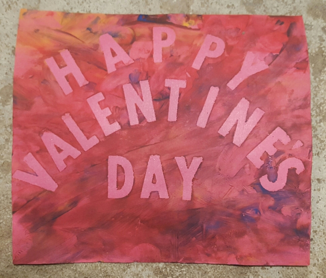 Toddler Craft - Valentine's Day Hand Print Card - Front