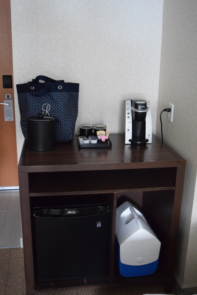 Whistler Family Vacation - Aava Whistler Hotel Review - Deluxe Queen Sofa Broken Mini Fridge
