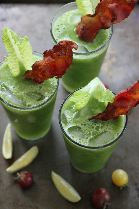 17 St Patrick's Day Cocktails - Spicy BLT Green Bloody Mary