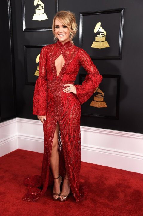 Top 5 Best Dressed Moms at the Grammys - Carrie Underwood