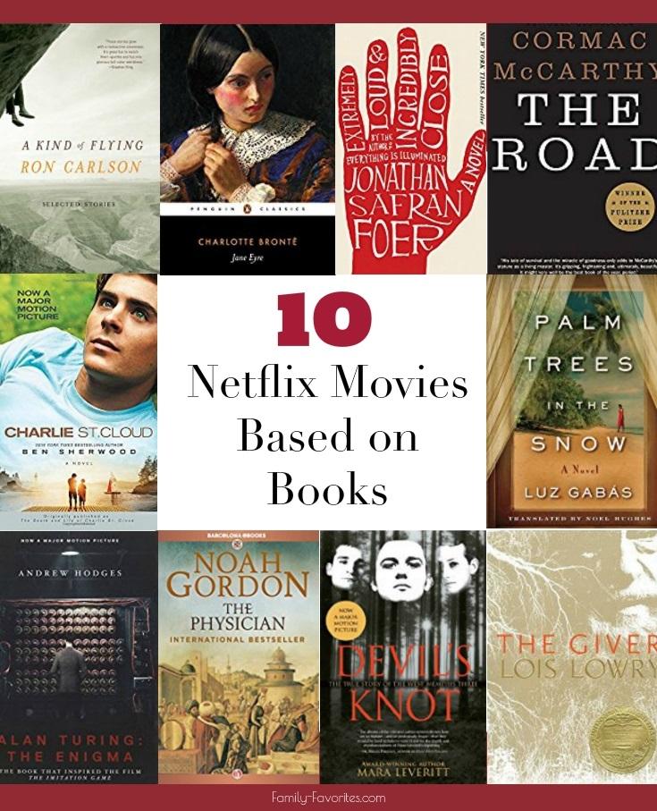10 Netflix Movies Based on Books