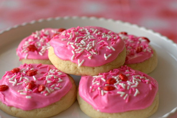 Valentine's Day Dinner Menu - Family Feast - Dessert - Soft Frosted Sugar Cookies