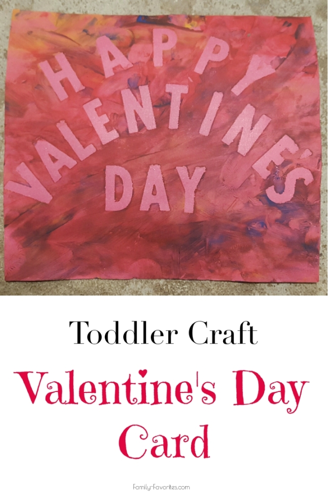 Toddler Craft - Valentine's Day Card