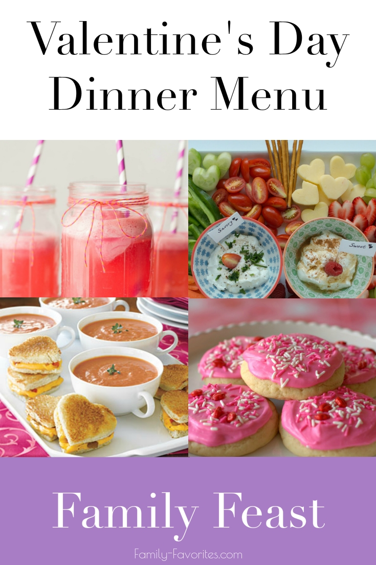 Valentine s day dinner menu family feast family favorites for Valentine s day meals to cook together