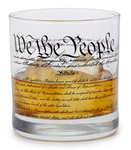 20 Geek Gifts For Him Under $20 - Constitition of United States of America Glass