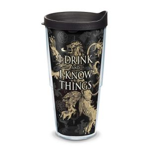 20 Geek Gifts For Him Under $20 - Game of Thrones I Drink and I Know Things Tumbler