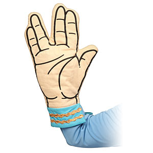 20 Geek Gifts For Him Under $20 - Star Trek Spock Oven Mitt