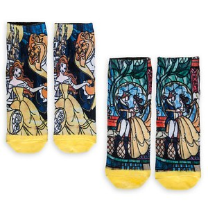 10 Under $10 - Beauty And The Beast Gifts For Adults - Beauty and the Beast Sock Set for Women - 2-Pack