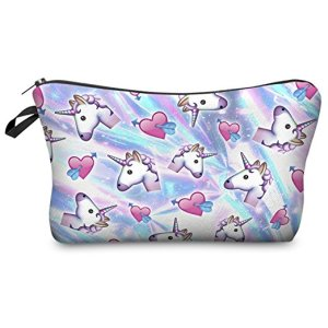 10 Under $10 - Unicorn Gifts - Unicorn Hearts Cosmetic Bag