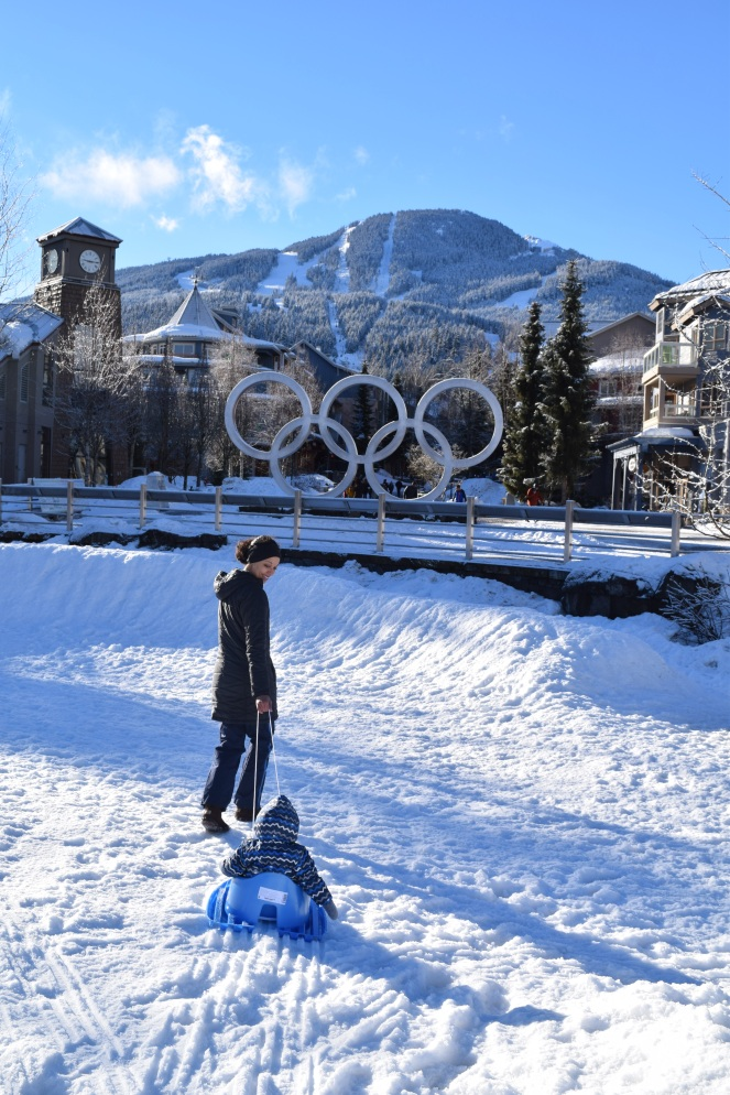 Whistler Family Vacation - Things To Do With A Toddler in Whistler - Whistler Olympic Plaza Snow Zone