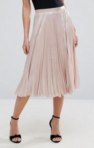 Fashion Finds Under $50 - Warehouse Pleated Lame Skirt