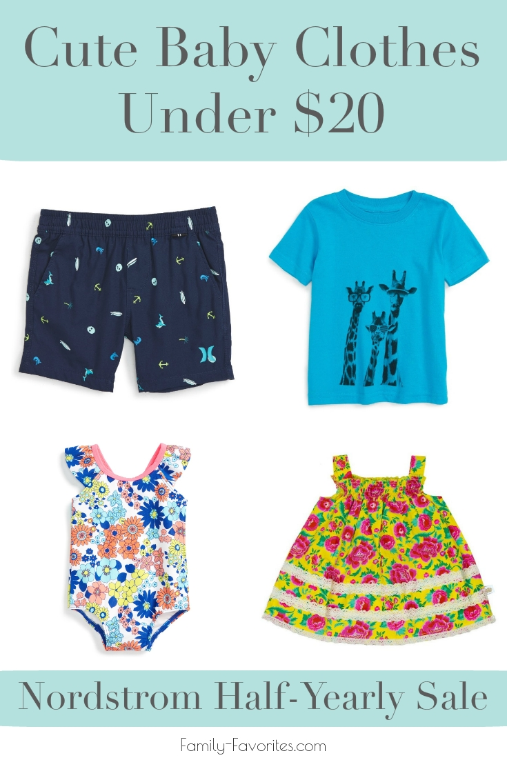 Cute Baby Clothes Under $20 From Nordstrom's Half-Yearly Sale