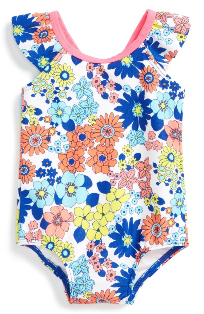 Tucker + Tate Flutter Sleeve One-Piece Swimsuit - Cute Baby Clothes Under $20 From Nordstrom's Half-Yearly Sale