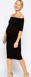 ASOS Maternity Bardot Dress with Half Sleeve