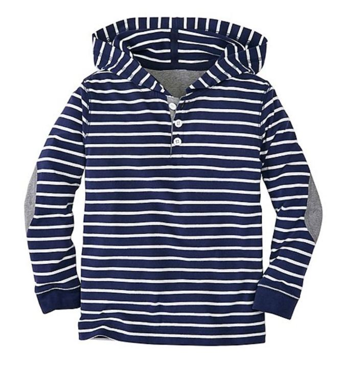 Hanna Andersson End Of Season Sale - Picks Under $20 - Boys Striped Hoodie Tee In Supersoft Jersey