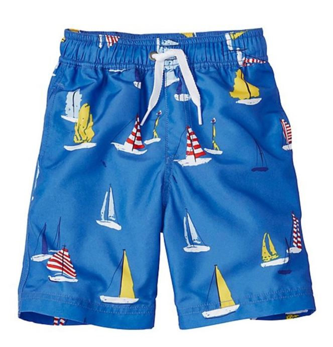 Hanna Andersson End Of Season Sale - Picks Under $20 - Boys Swim Shorts With UPF 50+