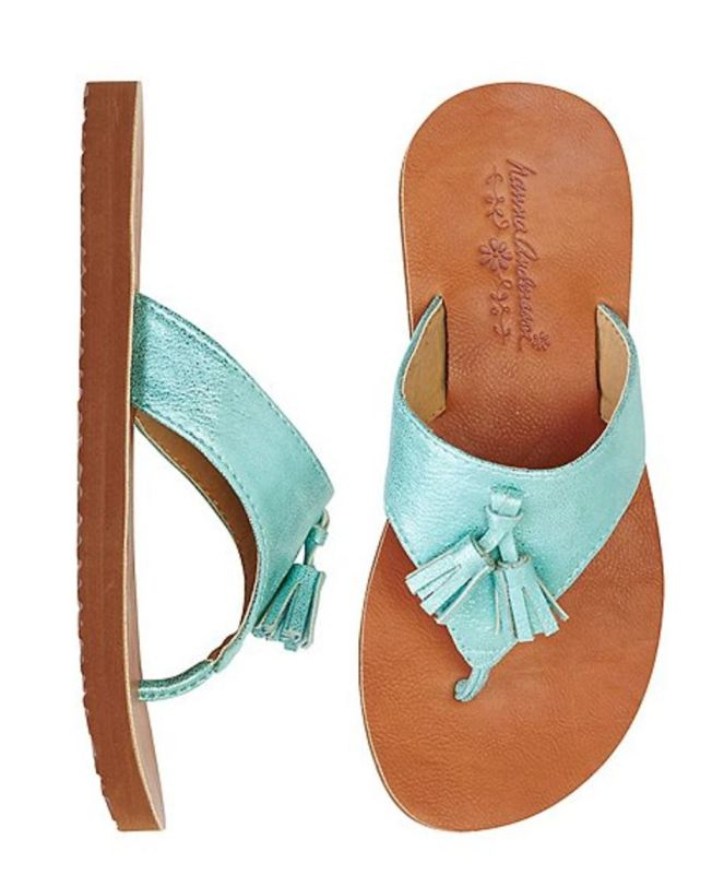 Hanna Andersson End Of Season Sale - Picks Under $20 - Girls Tilde Tassel Flip Flops By Hanna