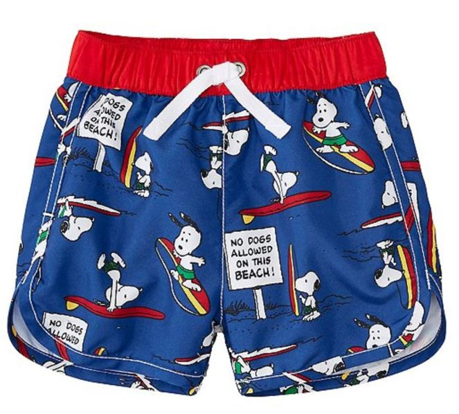 Hanna Andersson End Of Season Sale - Picks Under $20 - Peanuts Baby Sport Swim Trunks With UPF 50+