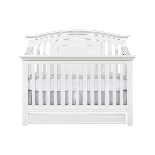 5 White Cribs For Girl Nursery - Baby Cache Harbor 4-in-1 Convertible Crib with Storage Drawer - White