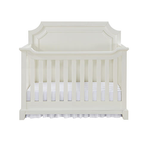 5 White Cribs For Girl Nursery - Bertini Lafayette 4-in-1 Convertible Crib - French White Lace